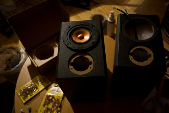 Work in progress. Full range speakers.